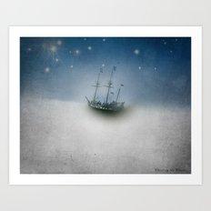 Pirate Ship Tall Ship - Charting the Clouds Art Print