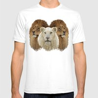 Lions Led By A Lamb Mens Fitted Tee White SMALL