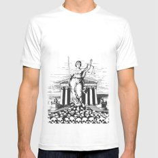 The Skulls of Justice White SMALL Mens Fitted Tee