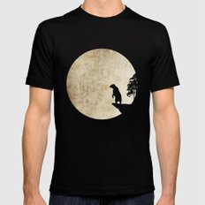Bear Night Mens Fitted Tee Black SMALL