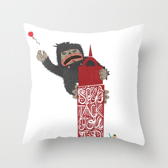 Speck Tack You Lur Deeds Throw Pillow