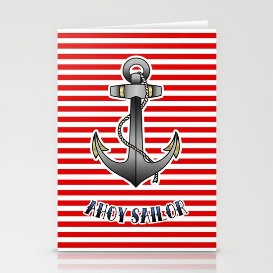 Ahoy Sailor Stationery Card