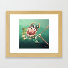 Barry the Buccaneer & his moody mate Cuckachoo Framed Art Print