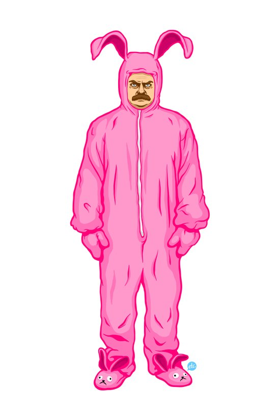 Ron Swanson's Pink Nightmare Canvas Print