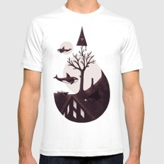 Darkly Dreaming Mens Fitted Tee White SMALL