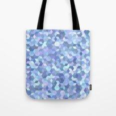 Light blue cube pattern Tote Bag