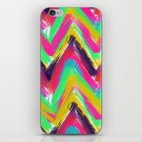 Bohemian multicolor oil paint chevron pattern iPhone & iPod Skin