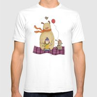 FLYING CARPET Mens Fitted Tee White SMALL