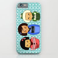 iPhone & iPod Case featuring kokeshis (Japanese dolls) by Alapapaju