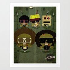 Party zombie rock Art Print