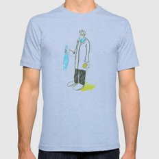 Pez y naranja Mens Fitted Tee Athletic Blue SMALL