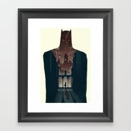 Framed Art Print featuring The Dark Knight by Duke Dastardly