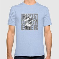 GREATEST CATCH EVER Mens Fitted Tee Tri-Blue SMALL