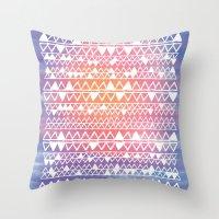 Sunset tribal Throw Pillow