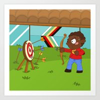 Olympic Sports: Archery Art Print
