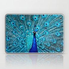 Peacock  Blue Laptop & iPad Skin