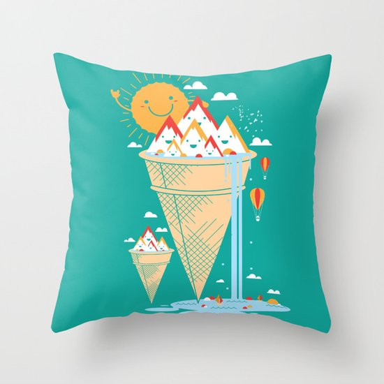mystery island Throw Pillow