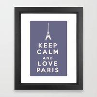 Keep Calm and Love Paris Framed Art Print