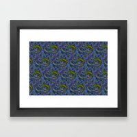 Lizzards Pattern. Framed Art Print