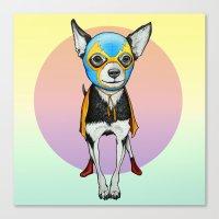 Chihuahua - Luchador  Canvas Print