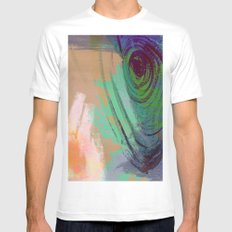 Hangin' Around White Mens Fitted Tee SMALL