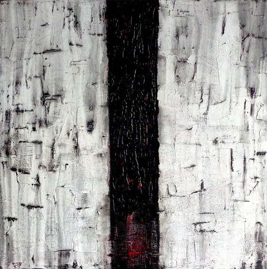 Dark Path - Black and white abstract Canvas Print