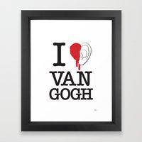 I Love Van Gogh Framed Art Print
