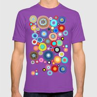 Contemporary Circles Mens Fitted Tee Ultraviolet SMALL