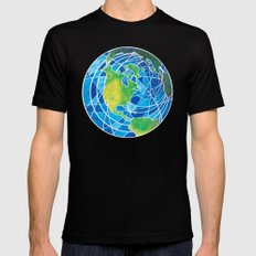 Earth Black Mens Fitted Tee SMALL