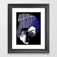 Blue Portrait Framed Art Print