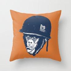 Monkey mania Throw Pillow