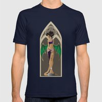 Gargoyle Mens Fitted Tee Navy SMALL