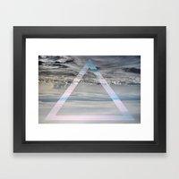 Triangle cloud Framed Art Print