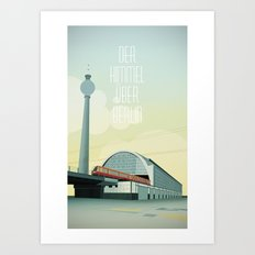 The sky over Berlin Art Print