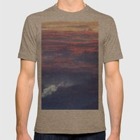 Sunset Mens Fitted Tee Tri-Coffee SMALL