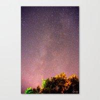 Meteors Near The Milky W… Canvas Print