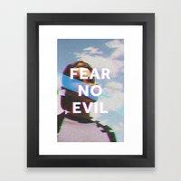 Fear No Evil  Framed Art Print