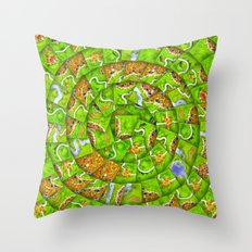 Сarcassonne swirl Throw Pillow