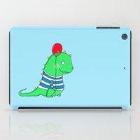 Jolly green party Dinosaur iPad Case