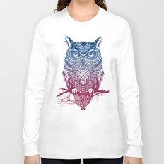 Evening Warrior Owl Long Sleeve T-shirt
