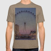 The London Eye, London Mens Fitted Tee Tri-Coffee SMALL