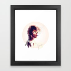 suit cigg (circle) Framed Art Print