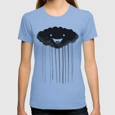 dark cloud Womens Fitted Tee Athletic Blue SMALL