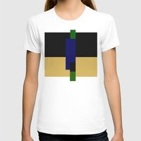 Rectangle Play Womens Fitted Tee White SMALL