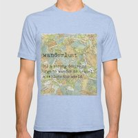 Wanderlust Mens Fitted Tee Tri-Blue SMALL