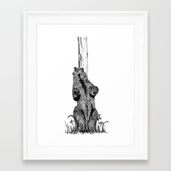 Dance, you sexy beast Framed Art Print