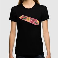 Back To The Future Part II Womens Fitted Tee Black SMALL