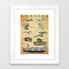 The 54th Anniversary of 823 Artillery Bombardment Framed Art Print