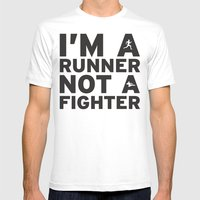 I'm A Runner Mens Fitted Tee White SMALL