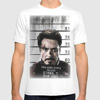 Tony Stark jailed Mens Fitted Tee White SMALL